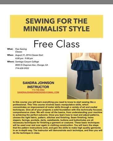 Sewing for the Minimalist Style