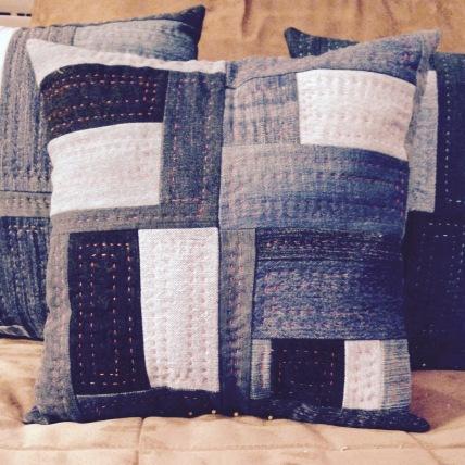 Pillows in Denim