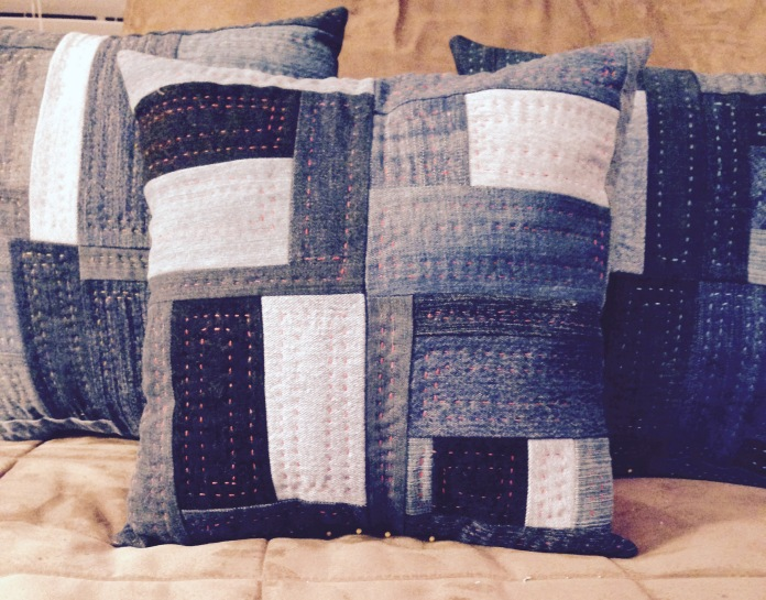 Pillows in Denim