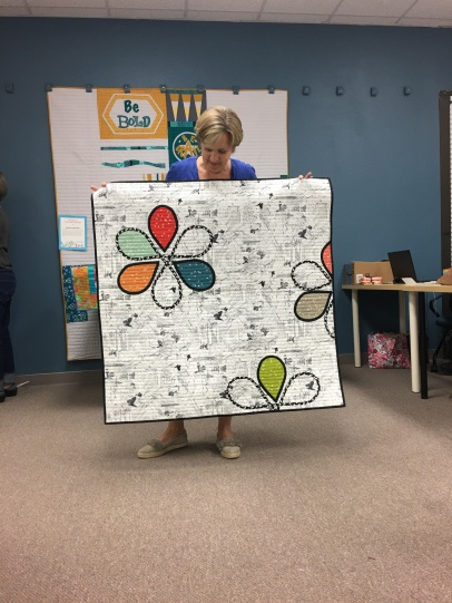 This quilt was made in a workshop with Latifa