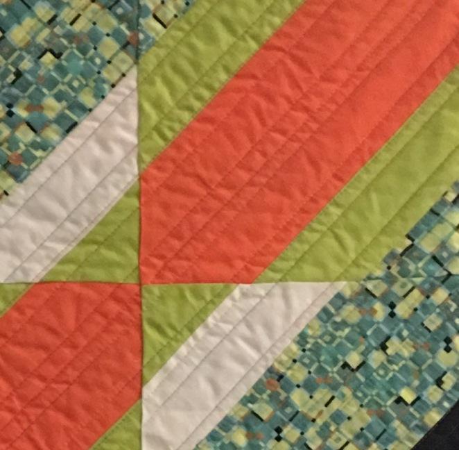 orange black green sample quilt