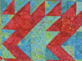 I used Hoffman fabrics for this quilt