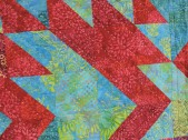 More hand stitching