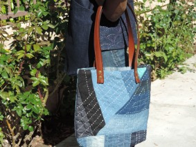 Monday Sew – Boro Hand Stitching and Denim Handbags – Let's